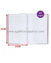 HARD COVER BOOK FOOLSCAP SINGLE LINE (400 PAGE)