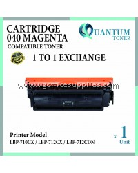 CANON 040 CRG 040 CARTRIDGE 040 MG High Quality Compatible Laser Toner Magenta Cartridge for Canon LBP712CX LBP712 LBP-712CX LBP 712CX / LBP710CX LBP710 LBP-710CX / LBP712CDN LBP712 LBP-712CDN Printer Ink
