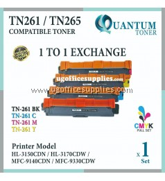 ( FULL SET ) Brother TN-261 TN261 TN-265 TN265 High Yield Compatible Toner Cartridge for Brother HL-3150CDN HL-3170CDW MFC-9140CDN MFC-9330CDW HL3150CDN HL3170CDW MFC9140CDN MFC9330CDW HL 3150CDN HL 3170CDW MFC 9140CDN MFC 9330CDW Printer Ink