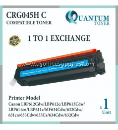 Canon 045 / 045H Cartridge 045 / Cartridge 045H C / CRG 045H Cyan High Quality Compatible Color Laser Toner Cyan Cartridge for Canon LBP611 LBP611cn LBP613 LBP613cdw MF631 MF631Cn MF633 MF633Cdw MF635 MF635Cx Printer Ink