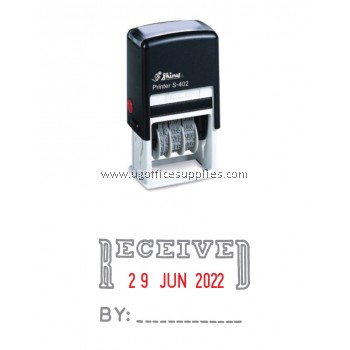 Shiny™ S-402 Self-Inking Stamp - Received with Date