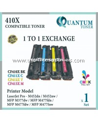 ( Full Set ) HP 201X / CF400X Black + CF401X Cyan + CF402X Yellow + CF403X Magenta High Quality Compatible Laser Toner For HP LaserJet Pro M252 / M252dw / M252n / M277 / MFP M277dw / MFP M277n / M274 / MFP M274n Printer Ink