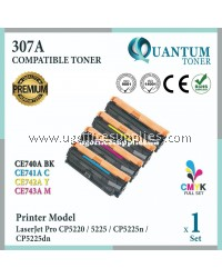 ( Full Set ) HP 307A / CE740A Black + CE741A Cyan + CE742A Yellow + CE743A Magenta High Quality Compatible Laser Toner For HP LaserJet Pro 5225 CP5225 HP CP5225n CP5225dn CP 5225 CP 5225n CP 5225dn Printer Ink