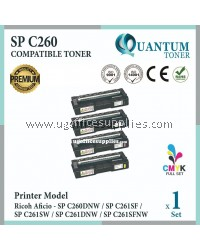 ( Full Set ) Ricoh SP C260 SPC260 SPC 260 Black + Cyan + Yellow + Magenta High Quality Compatible Laser Toner Ricoh SPC260 SPC261 SP C260 SP C261 SPC260DNW SPC261SF SPC261SW SPC261DNW SPC261SFNW C260DNW C261SF C261SW C261DNW C261SFNW   Printer Ink