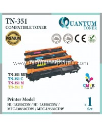 ( Full Set ) Brother TN351 TN-351 TN-351BK + TN-351C + TN-351Y + TN-351M High Quality Compatible Laser Toner For Brother L8250CDN HLL8250CDN L8250 / L8350CDW HLL8350CDW L8350 / L8850CDW MFCL8850CDW L8850 / L9550CDW MFCL9550CDW L9550 Printer Ink