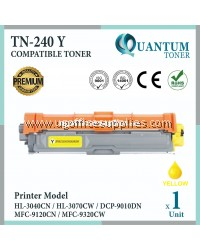 Brother TN-240 / TN240 / TN-240Y YW High Quality Compatible Colour Laser Toner Yellow Cartridge  For Brother HL-3040CN / HL-3070CW / DCP-9010CN / MFC-9120CN / MFC-9320CW Printer Ink.