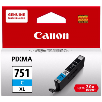 CANON CLI-751C XL CYAN ORIGINAL INK CARTRIDGE