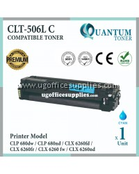 Samsung 506 506L CLT-C506L CLT-506L CY High Quality Compatible Laser Toner Cyan Cartridge For Samsung CLP-680 / CLP680 / CLP680ND / CLP680NW / CLX-6260 CLX6260 CLX6260ND CLX6260FD CLX6260FR CLX6260FW Printer Ink
