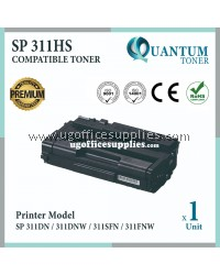 Ricoh SP 311HS High Quality High Yield Compatible Laser Toner Cartridge for Ricoh Aficio SP 311HS / SP311 / SP 311DN / SP311DNW / SP311SFN / SP311FNW / 311 / 311sfn / 311dn / 311fnw Printer Ink