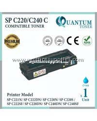 Ricoh SP C220 C240 CY High Quality Compatible Laser Toner Cyan Cartridge for Ricoh Aficio SPC221 SPC221N SPC222DN SPC220 SPC220N SPC222 SPC222SF SPC220S SP C240DN SPC240DN SPC240SF SPC240 Printer Ink