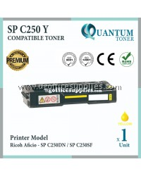 Ricoh SP C250 YW High Quality Compatible Laser Toner Yellow Cartridge for Ricoh Aficio SP C250DN SPC250 SP C250 SPC250DN SPC 250 SP C250SF SPC250SF SP250 SPC250D Printer Ink