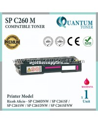 Ricoh SP C260 SPC260 MG High Quality Compatible Laser Toner Magenta Cartridge for Ricoh Aficio SPC260 SPC261 / SP C260 SP C261 / SPC260DNW SPC261SF SPC261SW SPC261DNW SPC261SFNW / SP C260DNW SP C261SF SP C261SW SP C261DNW SP C261SFNW Printer Ink