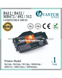 Oki B412 Drum High Quality Compatible Drum Cartridge for Oki B412 / B432 / MB472 / MB492 / B512 / MB562 / B412dn / B432dn /B512dn / MB492dn / MB472w / MB472dnw / MB562dnw Printer (Drum Only)
