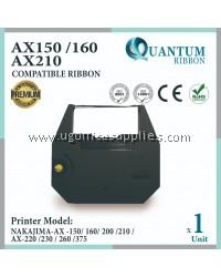 Nakajima AX150 AX 150 AX-150 / AX160 AX 160 AX-160 / AX200 AX 200 AX210 AX 210 AX220 AX 220 Compatible Typewriter Ribbon / Type Writer Ink