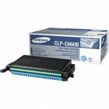 SAMSUNG CLP-C660B ORIGINAL CYAN TONER CARTRIDGE (CLP-C660B) - COMPATIBLE WITH SAMSUNG CLP-610