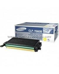 SAMSUNG CLP-Y660B ORIGINAL YELLOW TONER CARTRIDGE (CLP-Y660B) - COMPATIBLE WITH SAMSUNG CLP-610