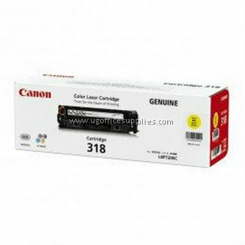 CANON 318 YELLOW ORIGINAL TONER CARTRIDGE