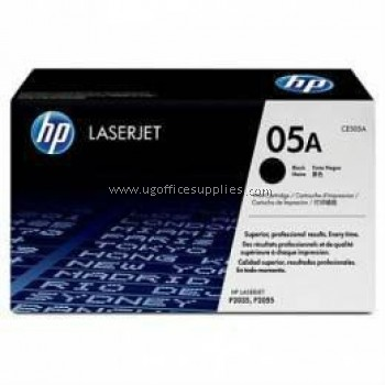 HP 05A ORIGINAL BLACK LASERJET TONER CARTRIDGE (CE505A) - COMPATIBLE TO HP PRINTER P2035 / P2055