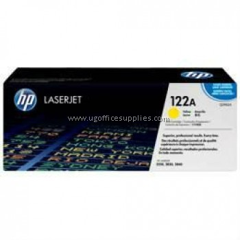 HP 122A ORIGINAL YELLOW LASERJET TONER CARTRIDGE (Q3962A) - COMPATIBLE TO HP PRINTER 2820 / 2840