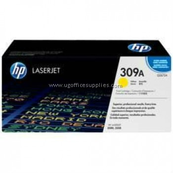 HP 309A ORIGINAL YELLOW LASERJET TONER CARTRIDGE (Q2672A) - COMPATIBLE TO HP PRINTER 3500 / 3550