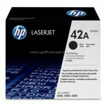 HP 42A ORIGINAL BLACK LASERJET TONER CARTRIDGE (Q5942A) - COMPATIBLE TO HP PRINTER 4250 / 4350