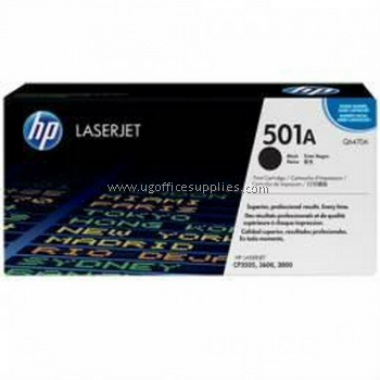 HP 501A ORIGINAL BLACK LASERJET TONER CARTRIDGE (Q6470A) - COMPATIBLE TO HP PRINTER 3600