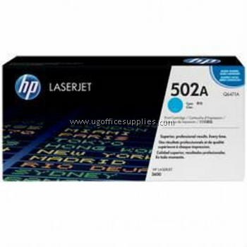 HP 502A ORIGINAL CYAN LASERJET TONER CARTRIDGE (Q6471A) - COMPATIBLE TO HP PRINTER 3600