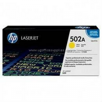 HP 502A ORIGINAL YELLOW LASERJET TONER CARTRIDGE (Q6472A) - COMPATIBLE TO HP PRINTER 3600