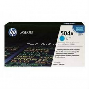 HP 504A ORIGINAL CYAN LASERJET TONER CARTRIDGE (CE251A) - COMPATIBLE TO HP PRINTER CP3525