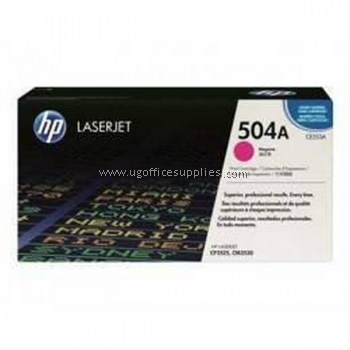 HP 504A ORIGINAL MAGENTA LASERJET TONER CARTRIDGE (CE253A) - COMPATIBLE TO HP PRINTER COLOR CP3525