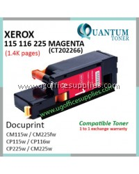 Fuji Xerox CP115 / CM116 / CM225 / CT202266 High Quality Compatible Color Laser Toner Magenta Cartridge for Fuji Xerox DocuPrint CP115w / DocuPrint CP116w / DocuPrint CP225w / DocuPrint CM115b / DocuPrint CM225fw Printer Ink