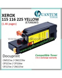 Fuji Xerox CP115 / CM116 / CM225 / CT202267 High Quality Compatible Color Laser Toner Yellow Cartridge for Fuji Xerox DocuPrint CP115w / DocuPrint CP116w / DocuPrint CP225w / DocuPrint CM115b / DocuPrint CM225fw Printer Ink