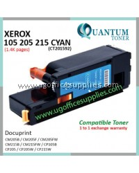 Fuji Xerox CP105 / CP205 / CP215 / CM205 / CM215 / CT201592 CY High Quality Compatible Color Laser Toner Cyan Cartridge for Fuji Xerox Docuprint CM205b CM205f CM205fw CM215b CM215fw CP105b CP205 CP205w CP215w Printer Ink