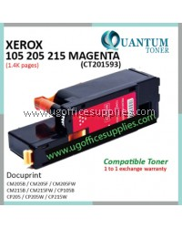 Fuji Xerox CP105 / CP205 / CP215 / CM205 / CM215 / CT201593 MG High Quality Compatible Color Laser Toner Magenta Cartridge for Fuji Xerox Docuprint CM205b CM205f CM205fw CM215b CM215fw CP105b CP205 CP205w CP215w Printer Ink