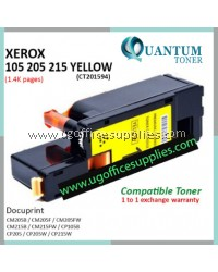 Fuji Xerox CP105 / CP205 / CP215 / CM205 / CM215 / CT201594 YW High Quality Compatible Color Laser Toner Yellow Cartridge for Fuji Xerox Docuprint CM205b CM205f CM205fw CM215b CM215fw CP105b CP205 CP205w CP215w Printer Ink