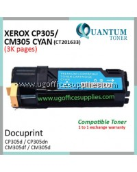 Fuji Xerox CP305 / CP305d / CM305 / CM305df / CT201633 CY High Quality Compatible Color Laser Toner Cyan Cartridge for Fuji Xerox Color DocuPrint CP 305d / CP 305dn / CM 305d / CM 305df Printer Ink