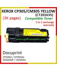 Fuji Xerox CP305 / CP305d / CM305 / CM305df / CT201635 High Quality Compatible Toner Yellow Cartridge for Fuji Xerox Color LaserJet CP 305d / CP 305dn / CM 305d / CM 305df Printer Ink