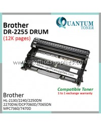 Brother DR-2255 DR2255 2255 High Quality Compatible Laser Drum Cartridge for Brother HL-2130 / DCP-7055 / HL-2240D / HL-2250DN / HL-2270DW / DCP-7060D / DCP-7065DN / MFC-7360 / MFC-7470D / MFC-7860DN / MFC-7860DW / FAX-2840 Printer Drum
