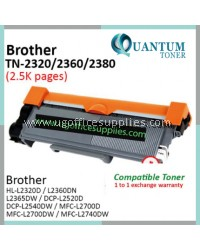 Brother TN-2360 TN2360 TN-2380 TN2380 BK Compatible Toner for Brother HL-L2320D L2320 / HL-L2360DN L2360 / HL-L2360DW / HL-L2365DW L2365 / DCP-L2520D L2520 / DCP-L2540DW L2540 / MFC-L2700D L2700 / MFC-L2700DW / MFC-L2740DW L2740 Printer Ink