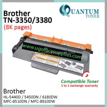 Brother TN3380 / TN-3380 / TN 3380 BK High Quality Compatible Laser Toner Black Cartridge for Brother HL-5440D / HL-5450DN / HL-6180DW / MFC-8510DN / MFC-8910DW Printer Ink